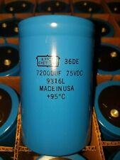(4) NIPON 72000UF 75V Electrolytic capacitors,audio amplifier,SE,KIT,KRELL,PASS