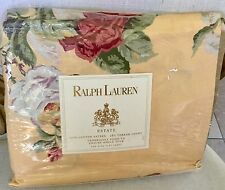 HTF RALPH LAUREN ESTATE KATHLEEN YELLOW FLORAL KING FLAT SHEET~NIP 1ST