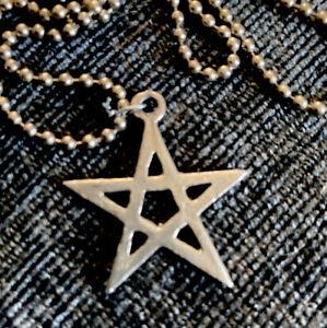 Pentagram Necklace Pendant Gothic Pagan Fantasy