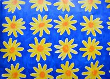 "Vintage Antique PAPER CRAFT Scrapbook flower Daisies Sheet naif 20""x27.5"" -e"