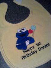first  birthday cookie monster  baby bibs