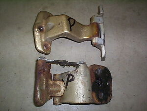 1965 1966 Cadillac Deville Fleetwood exterior rear door hinge top bottom set PR