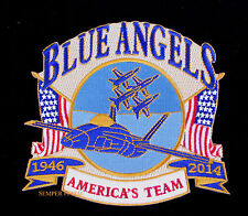 2014 US NAVY BLUE ANGELS PATCH FOX FIELD LA COUNTY PIN UP AIRSHOW LANCASTER WOW