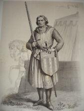 MOYEN AGE / GRAVURE 1840 / LE CARDINAL DE CHATILLON