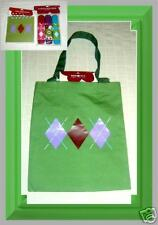 Green Book Tote Bag byTarget w Argyle Design+Free Items