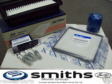 Genuine Hyundai I10 1.2 Service Kit Oil Air Pollen / Cabin Filter Spark Plugs