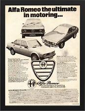 "1979 ALFA ROMEO ALFETTA GTV2000 AD A3 FRAMED PHOTOGRAPHIC PRINT 15.7""x11.8"""