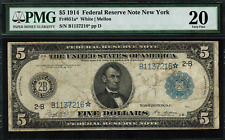 1914 $5 Federal Reserve Note New York FR-851a* - STAR NOTE - PMG 20 - Very Fine