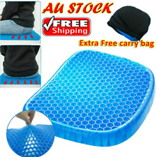 Gel Honeycomb Seat Comfort Cushion Flex Back Support Spine Protector Pain Relief