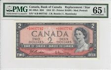 CANADA $2 DOLLARS 1954 BEATTIE BC38bA *A/B0037742 - PMG 65 GEM UNC EPQ