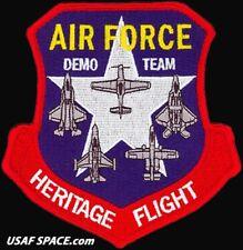USAF DEMO TEAM - HERITAGE FLIGHT -P-51 -F-35 -F-22 -F-16 & A-10 - ORIGINAL PATCH