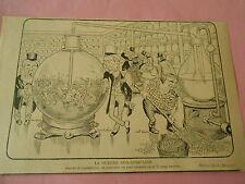 La Guerre Sud Africaine Changer en Or le Sang Humain Humour Print 1899
