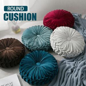 Luxury Velvet Round Pumpkin Cushion Soft Throw Pillow Seat Futon Home Sofa Decor