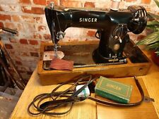 SINGER 201k Sewing Machine EJ661629 Leather Serviced. Video.PAT tested. GIFT!?