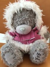 Me To You TINY TATTY TEDDY Bear Gray Stuffed Toy IN RED COAT