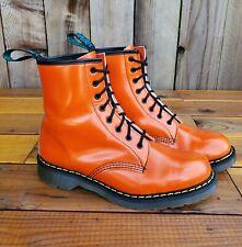 💥Solovair Dr. Martens Doc England MIE Rare Orange Leather Boots UK8 US9💥