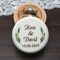 Personalized Wedding Ring Box Ring Bearer Box Proposal Ring Box Engagement Box