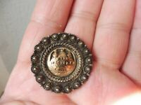 Beautiful, old Brooch, Mosque, 900 Silver With 585 Gold, Orient, Signed