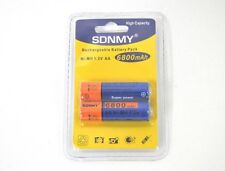 Confezione 2 Pile Batterie Stilo AA SDNMY Ricaricabili 6800mah Ni-mh 1.2v  hsb