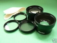 BK LENS WIDE+TELE+FILTER For 37mm Olympus PEN Mini Lite E-PL3 E-PM1 Camera