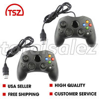 2 For Original Xbox System Console Black Video Game Pad Remote Controller