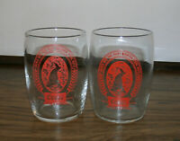 Coors Beer Barrel Taster Glass Red logo Lot of 2