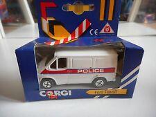 Corgi Ford Transit Police in White in Box