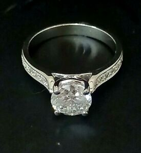 1.97ct Diamond Solitaire Engagement ring /White Gold