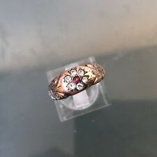 Women's 9ct Vintage Gold Cluster Ring Hallmarked Weight 2.1g Size N Stamped