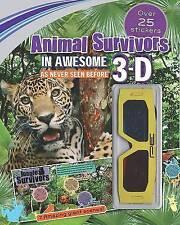 3d Sticker Scene: Animal Survivors (Endangered Animals), , Excellent Book