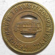 Terre Haute Transit Company (Indiana) transit token - IN890E
