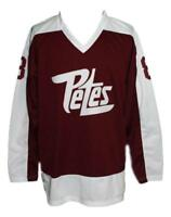 Any Name Number Size Peterborough Petes Retro Hockey Jersey Maroon