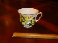 Vintage Queen Anne Yellow Roses,Floral Tea, Coffee, cup, Mug, # 8291, Bone China