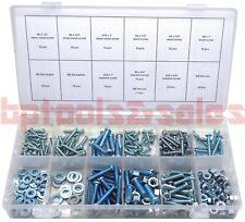 347pc Sae Nut And Bolt Assortment Sheet Metal Machine Screw Hardware Kit