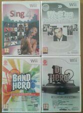 Lote pack de juegos de música para Wii Nuevos Precintado PAL España