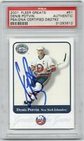 RARE 2001 Fleer Greats Hockey #51 Denis Potvin HOF Signed AUTO PSA/DNA AUTOGRAPH