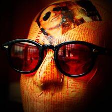 Retro vintage red sunglasses Johnny Depp sunglasses mens black red lens unisex