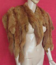 1930s Real Honey Marten Fur Shoulder Cape Fur Stole Peaky Blinders