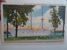 Vintage Postcard Seascout Base on Carter Lake, Omaha, Nebraska (Boy Scouts)