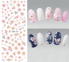 Spring Pink Fresh Flower Nail Water Decals Nail Art Transfer Stickers Decor Tips