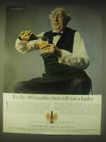 1962 Whitbread Beer Ad - To the 493 families that still run a butler