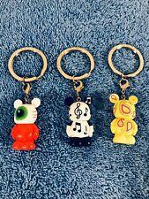 3 Vinylmation Jr Disney Misc Lot Of 3 New Keychains Disneyland