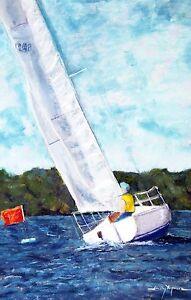 Crossing the Finish Line (8.3 x 5.3) -- Giclee Print by Shelley Koopmann
