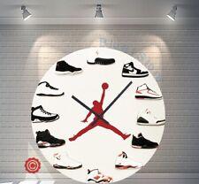 "Premium 12"" Clock Air Jordan 1-12 OG 2D Quartz nike supreme off white yeezy"