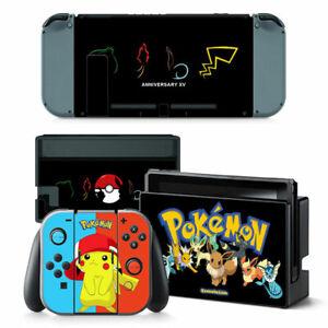 POKEMON Nintendo Switch VINYL Skin STICKER Protector for Console & Controller
