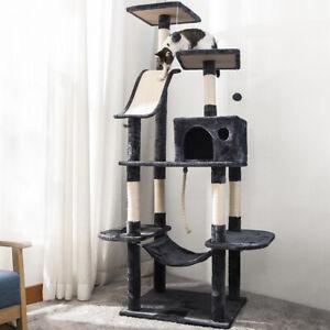 Multilevel Cat Tree Scratching Post Kitten Climbing Tower Activity Centre