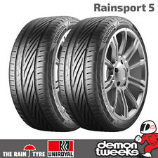 2 x Uniroyal RainSport 5 Performance Road Car Tyres - 205 55 R16 91V