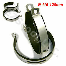 2X MUFFLER EXHAUST CLAMP BRACKET/RUBBER 125-150cc GY6 SCOOTER JMSTAR ROKETA VIP