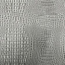 """Charcoal Gray Marine Gator Vinyl Upholstery Fabric - Sold By The Yard - 54"""""""