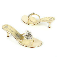 Juicy Couture WONDER Platino Gold Metallic Snakeskin Leather Thong Sandals 8.5 M